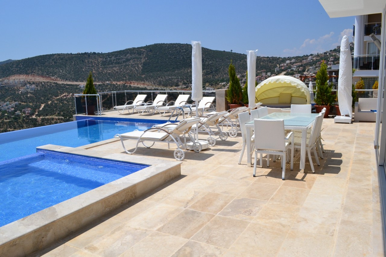 Villa Kizil in Kalkan is just a 25 minute walk or short drive from town